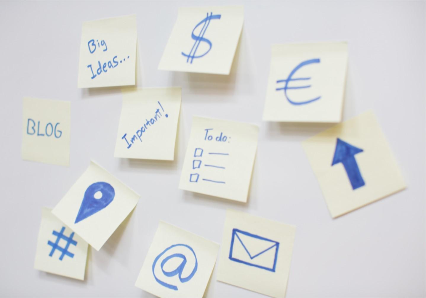 Sticky notes - website image